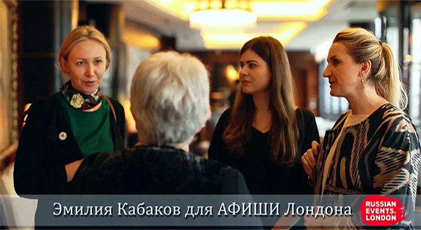 Snaps of an interview with Emilia Kabakov